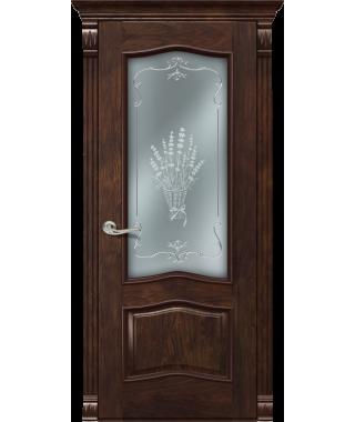 Дверь межкомнатная «Милан Б орех темный остекленная»