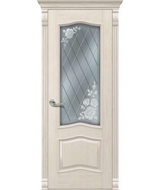 Дверь межкомнатная «Милан Б ваниль ясень остекленная»