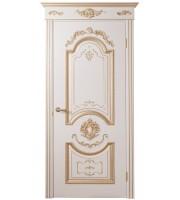 Дверь межкомнатная «Орфей глухая патина золото»