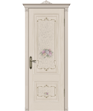 Дверь межкомнатная «Прага фотопечать роза»