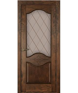 Дверь межкомнатная «Прованс 4 ретро остекленная»