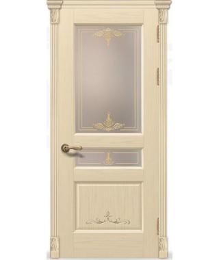 Дверь межкомнатная «Прованс 9 крем остекленная»