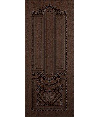 Дверь межкомнатная «Рига ясень коричневый патина черная глухая»