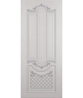 Дверь межкомнатная «Рига ясень серый патина серебро глухая»