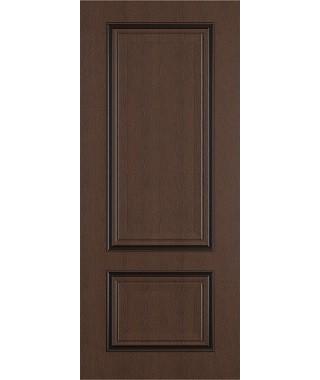 Дверь межкомнатная «Сицилия ясень коричневый патина черная глухая»