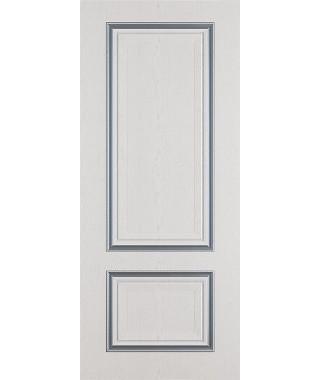 Дверь межкомнатная «Сицилия ясень серый патина серебро глухая»
