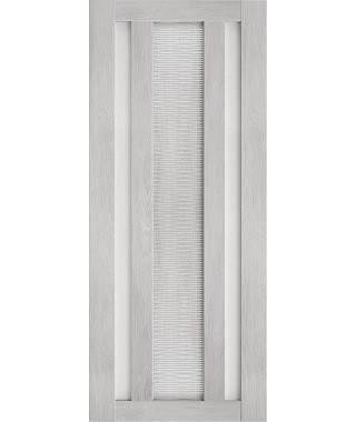 Дверь межкомнатная «Техно 6-3D шале серый стекло сатинат остекленная»