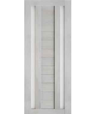 Дверь межкомнатная «Техно 6 шале серый стекло сатинат остекленная»