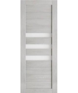 Дверь межкомнатная «Техно 7 шале серый стекло сатинат остекленная»