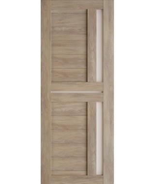 Дверь межкомнатная «Техно 9 шале золотой стекло сатинат остекленная»