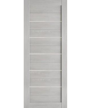 Дверь межкомнатная «Техно глухая молдинг бетон белый»