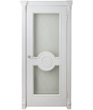 Дверь межкомнатная «Триумф белый ясень остекленная»