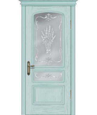 Дверь межкомнатная «Венецианка 2 бирюза остекленная»