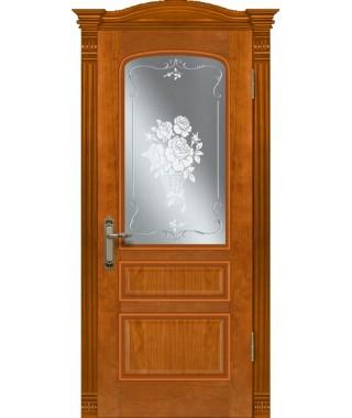 Дверь межкомнатная «Венецианка 2 анегри остекленная»