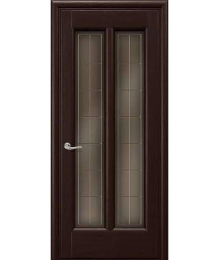Дверь межкомнатная «Чикаго венге остекленная»