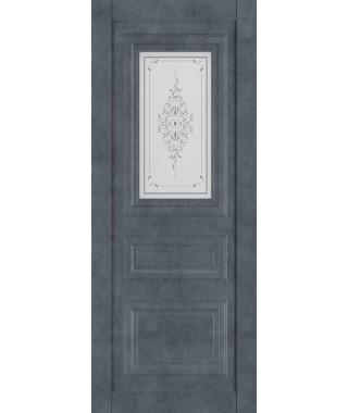 Дверь межкомнатная «Манхеттен остекленная бетон графит»
