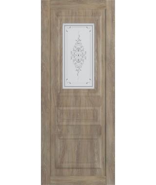 Дверь межкомнатная «Манхеттен остекленная шале золотой»