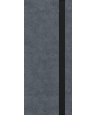 Дверь межкомнатная «П-3 остекленная бетон графит»