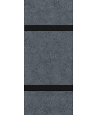 Дверь межкомнатная «П-4 остекленная бетон графит»