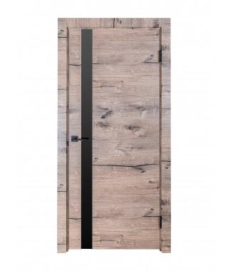 Дверь межкомнатная «Royal-2 остекленная дуб пацифика»