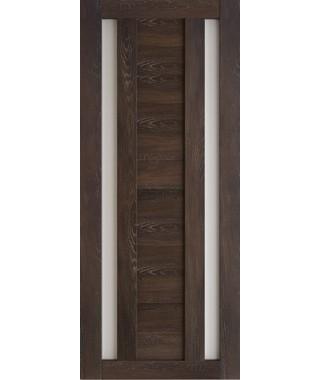 Дверь межкомнатная «Техно 6 шале мореный стекло сатинат остекленная»