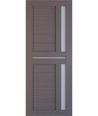 Дверь межкомнатная «Техно 9 дуб серый стекло сатинат остекленная»