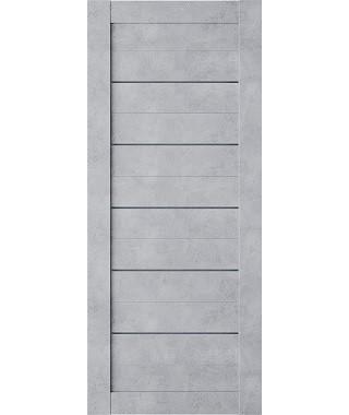 Дверь межкомнатная «Техно глухая бетон серый»