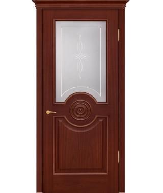 Дверь межкомнатная «Триумф анегри темный остекленная»