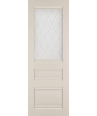 Дверь межкомнатная «Венеция-2 остекленная магнолия»